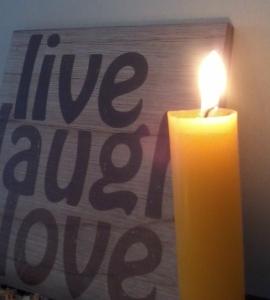 yellow chakra candle
